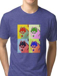 Retro Husky  Tri-blend T-Shirt
