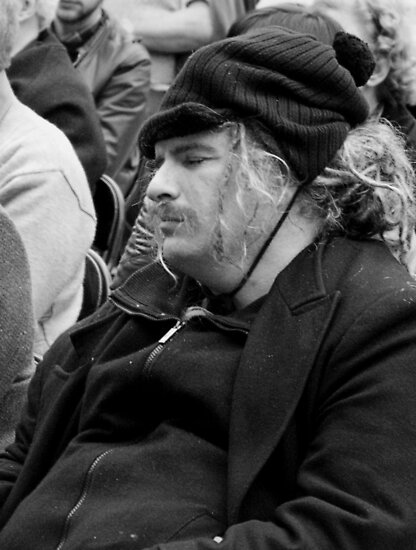 Snoozing Anarchist by Andrew  Makowiecki