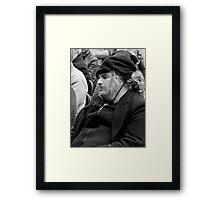 Snoozing Anarchist Framed Print