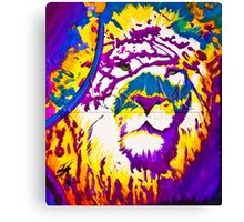 Colorful Lion Canvas Print