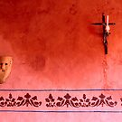 Mayan Mask and Catholic Cross by Zane Paxton