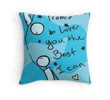 I promise to love you Throw Pillow