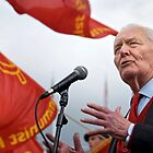 Tony Benn keeps the red flag flying by James D Umbra