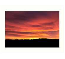 Vibrant Sunset, Carse of Gowrie Art Print
