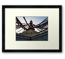 foundation. bouddhanath stupa, nepal Framed Print