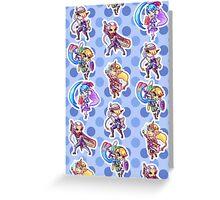 Main Heroes Pattern Greeting Card