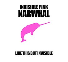 Invisible Pink Narwhal Photographic Print