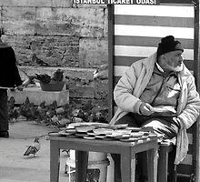 Bird man of Istanbul by johngill