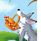 Alfresco Wolf by KOKeefeArt