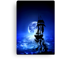 Out of the Blue, Into the Black Canvas Print