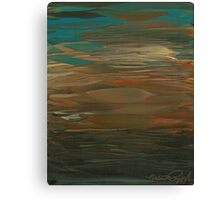 Layered Teal Sunset Canvas Print