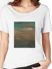 Layered Teal Sunset Women's Relaxed Fit T-Shirt