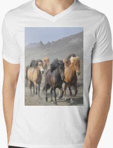 Dusty Trail Mens V-Neck T-Shirt