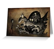 Funny Monsters! Greeting Card