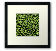 Abstract 090512 - Martian Green Framed Print