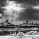 Eastbourne Pier in Stormy Weather by Katariina Jarvinen
