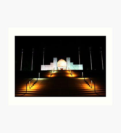 Canberra War Memorial - Night. Art Print