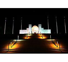 Canberra War Memorial - Night. Photographic Print