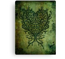 Feathered Peacock Heart - Print Canvas Print
