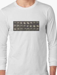 FLying Cockatiel, Muybridge, Animal Locomotion Long Sleeve T-Shirt