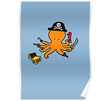 Pirate Octopus Poster