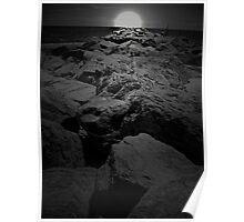 Moonlight On the Rocks Poster