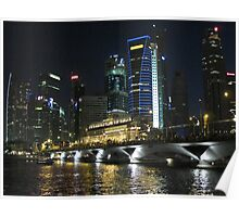 Singapore cityscape at night II Poster