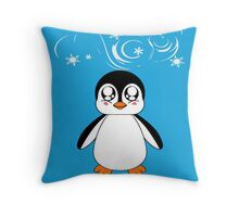 Penguin & Snow Throw Pillow