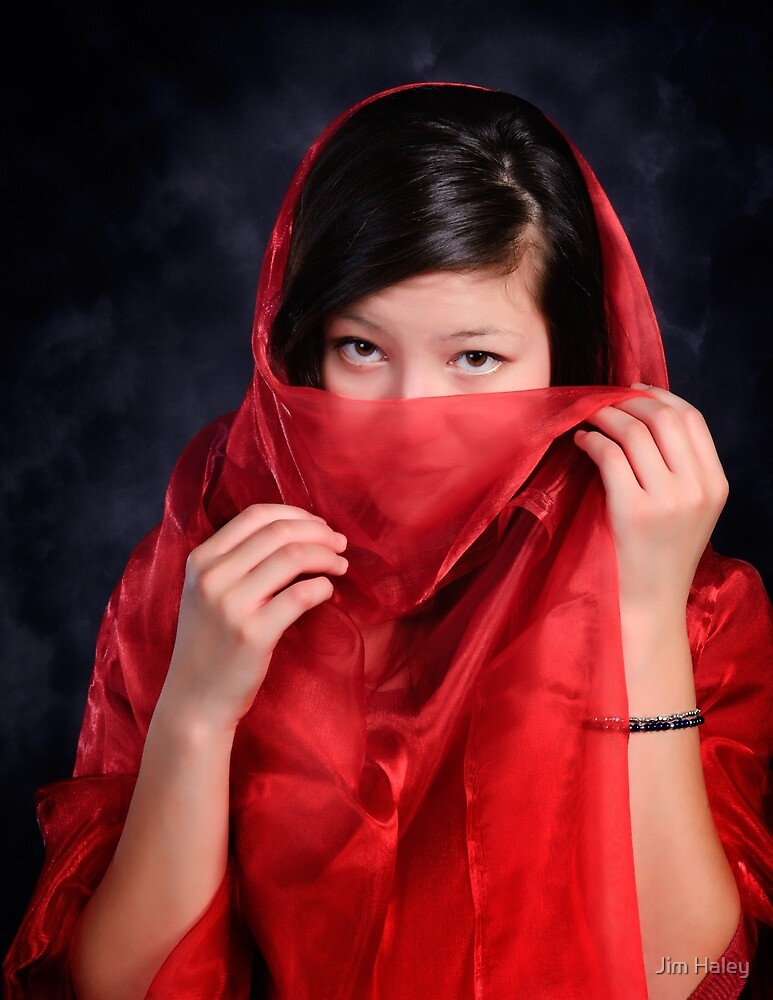 Red Veiled Eyes by Jim Haley