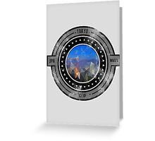 Distressed Tokyo Abstract Window Logo Greeting Card