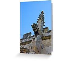 Gargoyle - St Olaves, Marygate,York Greeting Card