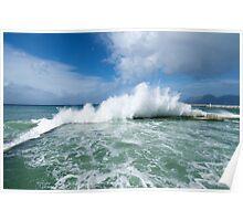 Wave explodes at Kalk Bay Poster