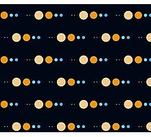 Planets to scale pattern Photographic Print