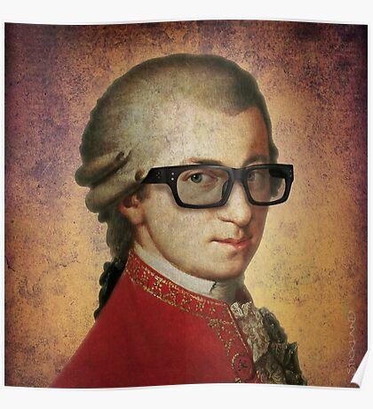 Hipster Mozart Poster