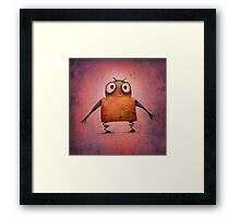 Funny Undroid Robot Framed Print