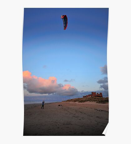 kite on the beach Poster