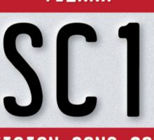Eurovision - Licence Plate Sticker