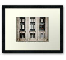 Pattern: Interrupted Framed Print
