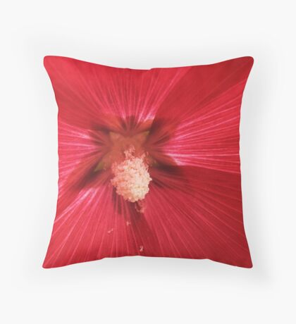 A  macro in Holly Hocks Throw Pillow