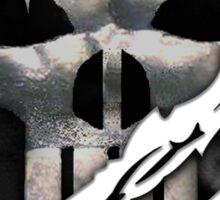 Silver Skull torn tee tshirt Sticker