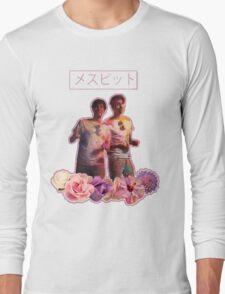 Phan-Aesthetic-Flower Design Long Sleeve T-Shirt