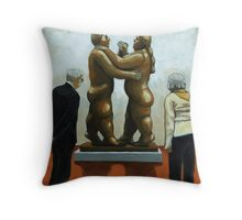 The Dance of Life - figurative oil painting Throw Pillow