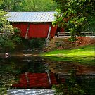 Reflection of Campbell's Covered Bridge by Darlene Lankford Honeycutt