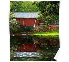Reflection of Campbell's Covered Bridge Poster