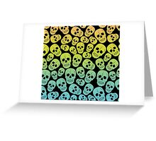 Neon Skulls Pattern Greeting Card
