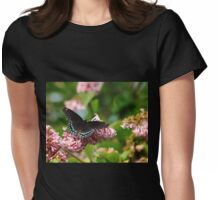 Red Spotted Purple Womens Fitted T-Shirt