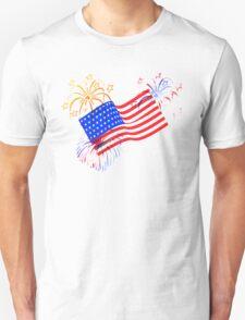 Patriotic Fireworks Unisex T-Shirt