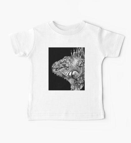 Black And White Iguana Art - One Cool Dude 2 - Sharon Cummings Baby Tee