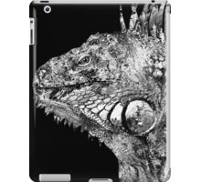 Black And White Iguana Art - One Cool Dude 2 - Sharon Cummings iPad Case/Skin