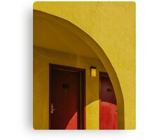 The arch of yellow hotel Canvas Print